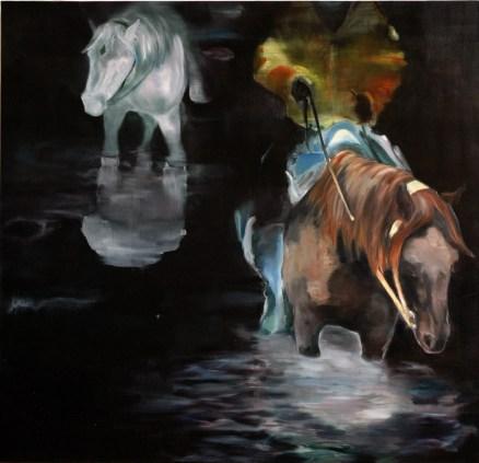 Ausritt III / Öl auf Leinwand / 145 x 150 cm / 2008