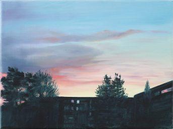 Der Himmel ist überall / Öl auf Leinwand / 30 x 40 cm / 2019