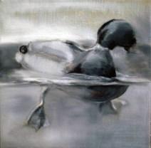 Ente-15 / Öl auf Leinwand / 24 x 30 cm / 2007