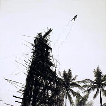 Jump / Öl auf Leinwand / 48 x 48 cm / 2020