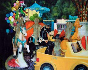 Kindheit-Ein Moment / Öl auf Leinwand / 120 x 150 cm / 2020