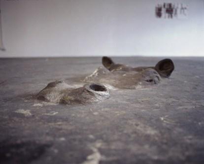 Nilpferd Skulptur