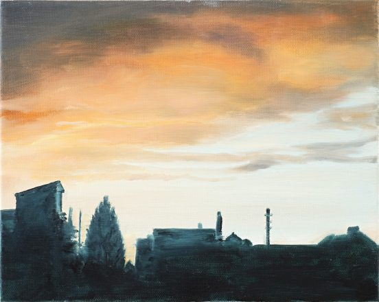 Ohne Worte / Öl auf Leinwand / 24 x 30 cm / 2019