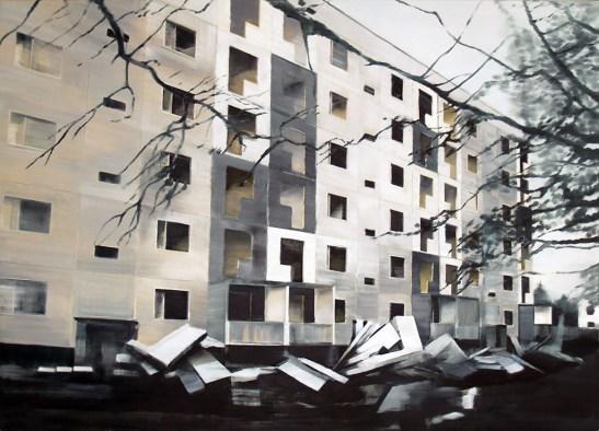 Reicker Straße Abbruch / Öl auf Leinwand / 150 x 210 cm / 2009