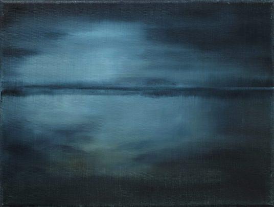 Seestück II / Öl auf Leinwand / 30 x 40 cm / 2019