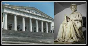 Asiatic Society & Central Library that houses the marble statue of Jaggannath 'Nana' Shankershet, a man with a 'golden heart'! Photo edited by Aditya Chichkar.
