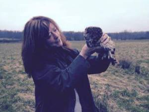 Beverley Thompson with the Tawny Owl