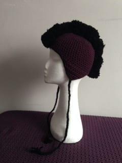 Crochet - Mohawk Hat (Commission) 3