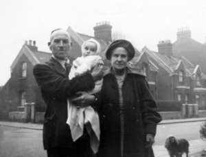 Pat's Uncle James and Aunt Beatrice Newell with their Godson