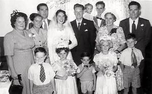 Pat's wedding to Reg 1955