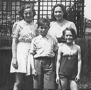 Pat front right with her brother and sisters in Greenford