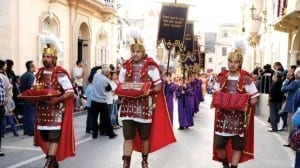 Good Friday procession-pageant