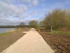 New footpath at Kingbsury Water Park. Photo courtesy of T. Doherty (WWT)