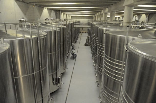 The cellar at Chateau La Coste