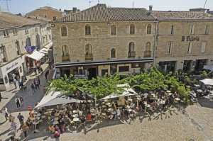 A charming square in Aigues-Mortes