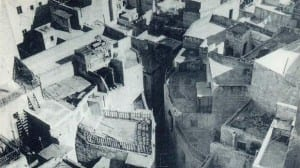 Buildings of different kinds and levels filled the holes.