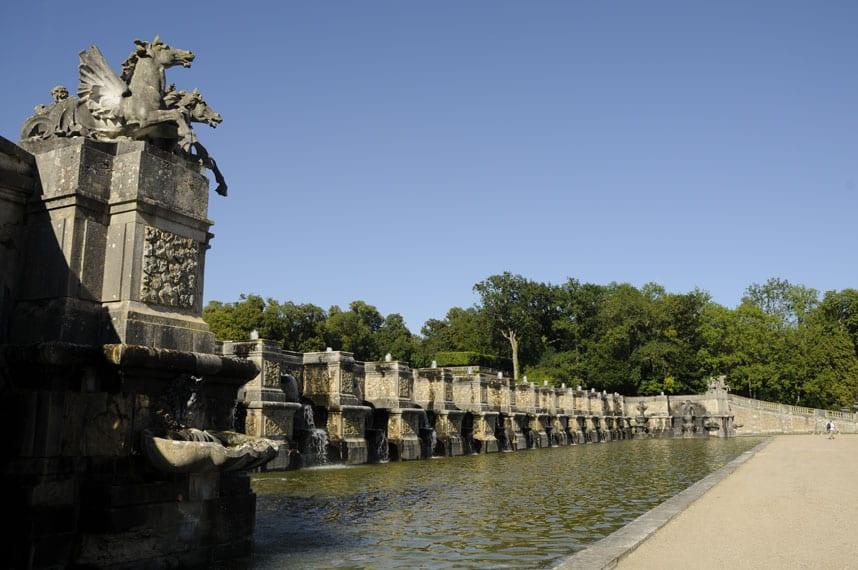The great fountain at Vaux-le-Vicomte