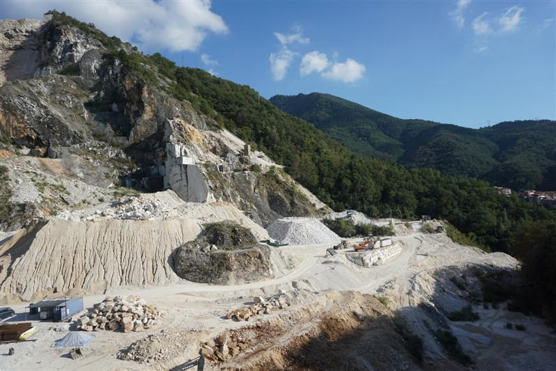 Carrara marble, but no birds!