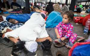 Refugees held up at Budapest