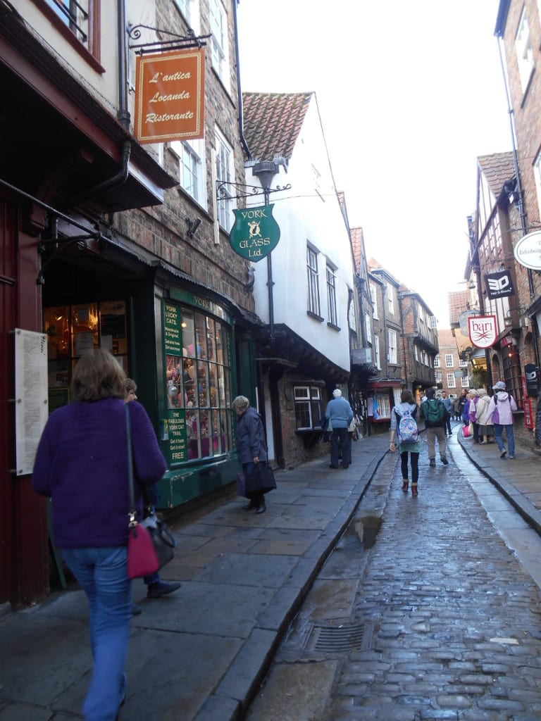 Exploring York's cobbled streets. Photo Ann Evans