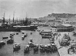 the harbour at the turn of the 19th century