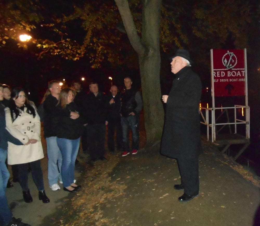 Out on The Original Ghost Walk. Photo Ann Evans