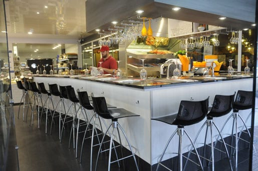 The seafood Champagne Bar at Chez Perard restaurant