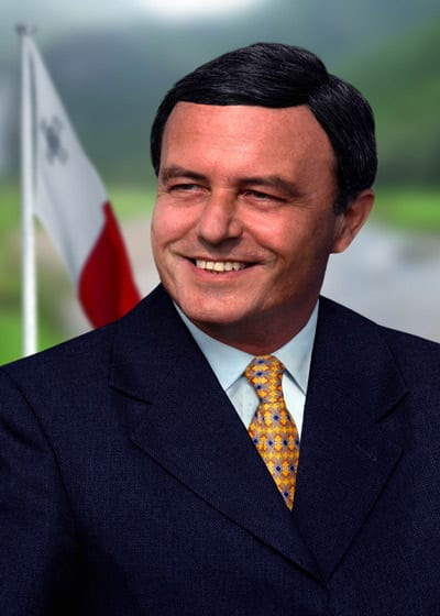 Euro MEP Dr Alfred Sant.