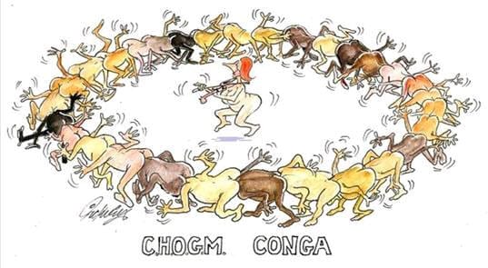 Sarcastic caricature of how CHOGM works!