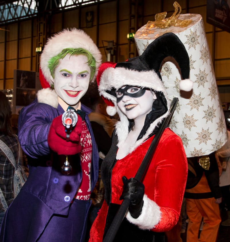 Christmas Joker and Harlequin