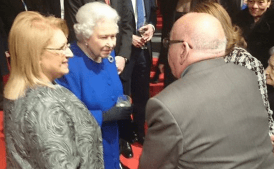 The Queen and President Coleiro Preca chatting to British residents in Malta.