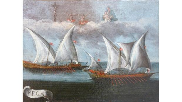 One of the ex-voto paintings