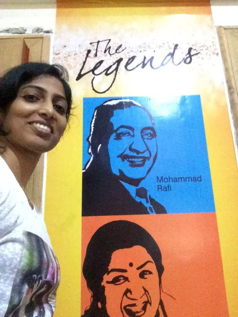 Basking in the graphic presence of the music legends of Bollywood- Rafi Saab & Lata Didi.