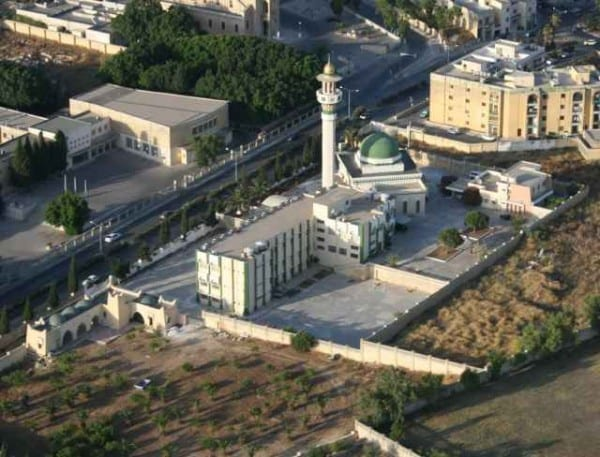 The large Paola Mosque with its spacious grounds.