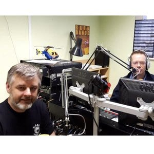 Trevor and Simon Herbert at Hailsham FM