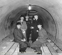 Typical inside of air raid shelter