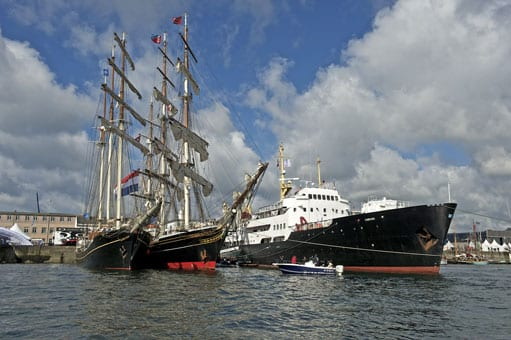 Tall sail ships in Brest