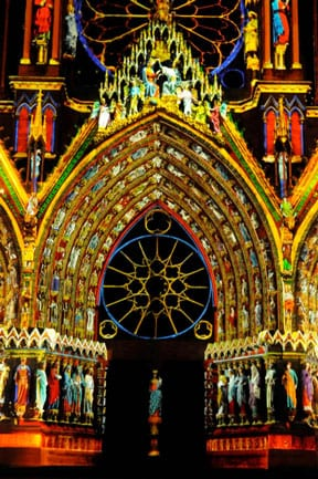 Reims Cathedral light show ©Frederic de Poligny