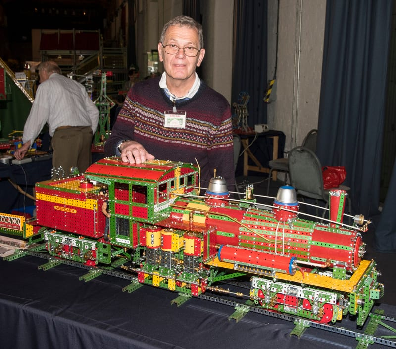 Gregg Worwood and his Shay Articulated Loco. Photo Rob Tysall