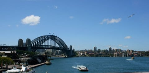 Sydney Harbour Bridge by Reg J.Dunkley