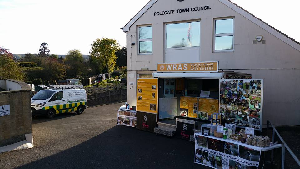 WRAS's Dsiplay outside Polegate Town Council Offices last week