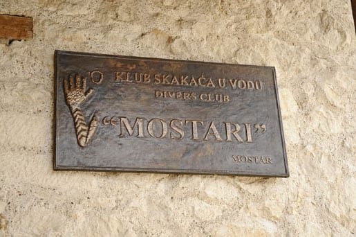 The Mostar diving club