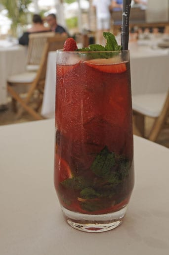 A strawberry mojito, Up Yours!