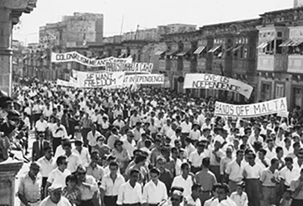 The-clamour-for-Independence-gathered-steam-in-the-early-1950s-as-Malta-Labour-Party-supporters-demonstrate.