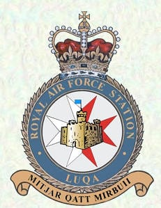 RAF Luqa crest with an inscription that reads 'An airport never conquored' - remained under British control after Independence.