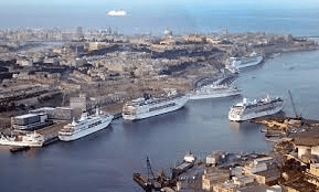 In 2016 no warships in harbour but cruise liners bringing thousands of tourists to Malta.