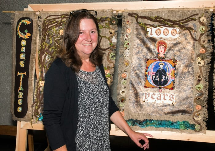 1000 Year Tapestry, Coventry Cathedral, artist Jane Morgan,