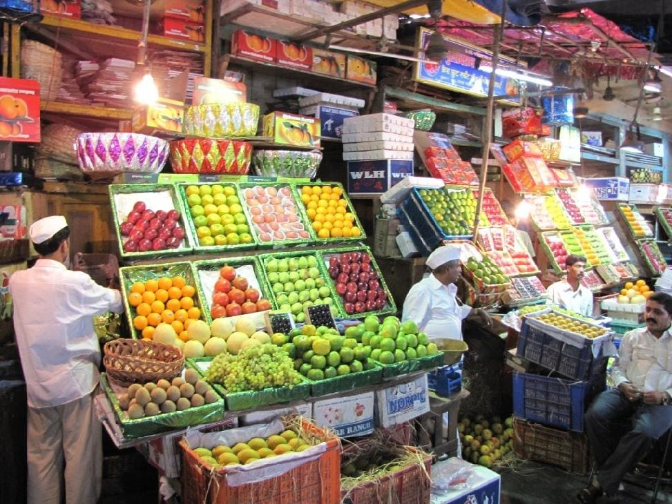Fruits section at the Crawford Market.