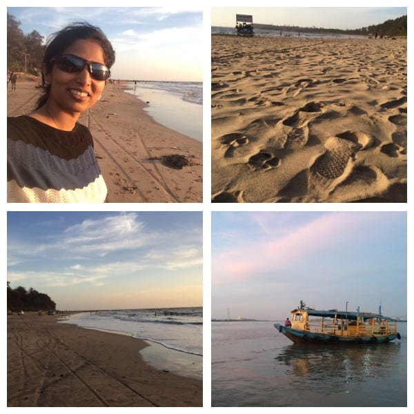 I love this combination: Sand, beach serenity & me!