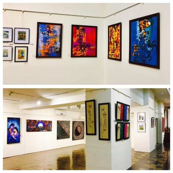 Painting exhibits at Coomarswamy Hall, Fort